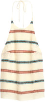 H&M Woven Halterneck Top - Light beige/striped - Ladies