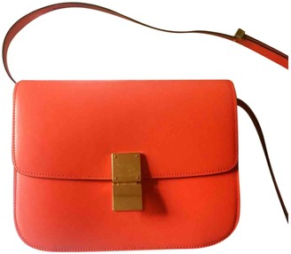 Celine Classic Orange Leather Handbags