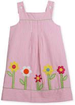 Florence Eiseman Check Seersucker Flower-Border Dress w/ Bloomers, Size 2-6X