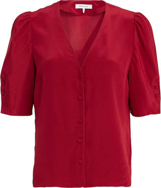 Frame Olivia Silk Button Down Blouse