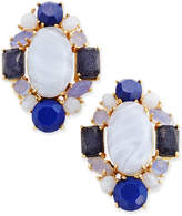 Kate Spade Gold-Tone Blue Stone Cluster Stud Earrings