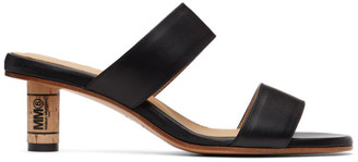 MM6 MAISON MARGIELA Black Cork Heeled Sandals