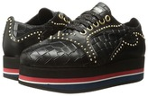 Just Cavalli Cocco Printed Leather Sneaker Women's Lace up casual Shoes