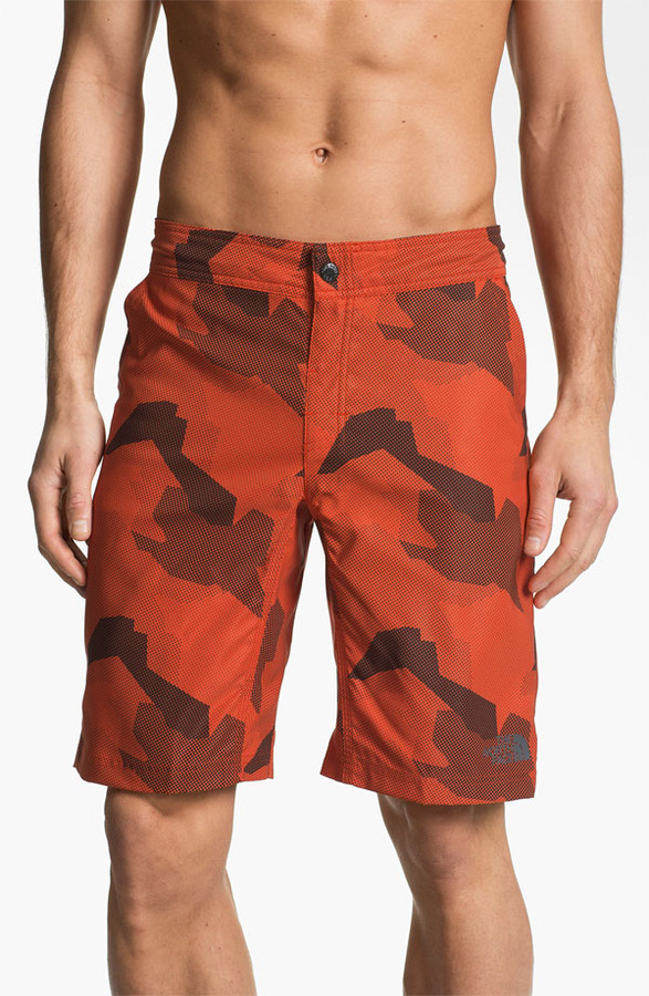 The North Face 'Pacific Creek' Board Shorts Zion Orange 36