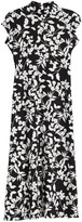 Velvet Torch Floral Print Mock Neck Maxi Dress