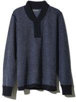 L.L. Bean Signature Italian Merino Sweater, Birds-Eye Henley