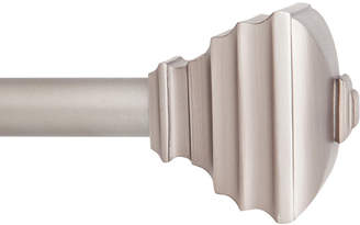 "Kenney Jayden 3/4"" Window Curtain Rod, 66""-120"", Pewter"