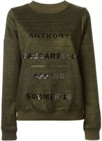Anthony Vaccarello logo print sweatshirt - women - Cotton/Linen/Flax/Polyamide - 36