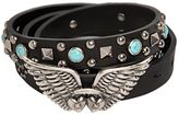 Valentino 20mm Rockstud Rolling Wings Buckle Belt