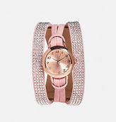 Avenue Pink Stone Wrap Watch