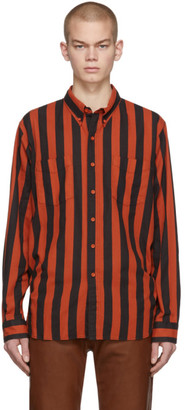 Levi's Clothing Red and Black 1960s Button-Down Shirt