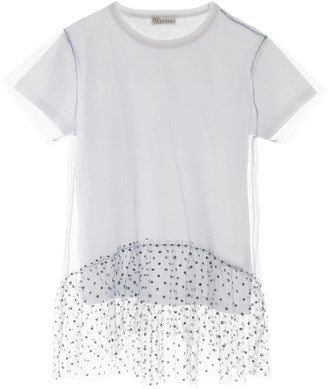 RED Valentino Glitter And Tulle T-shirt