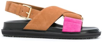 Marni Fussbett cross-strap sandals