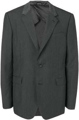 Alexander McQueen contrast panel classic blazer