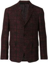 Versace baroque check pattern blazer
