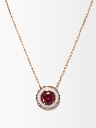 Selim Mouzannar Diamond, Rhodolite & 18kt Rose-gold Necklace - Rose Gold