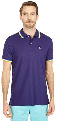 Psycho Bunny Bower Polo (Astral) Men's Clothing