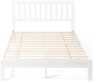 Gdfstudio Braxton Modern Farmhouse Acacia Wood Queen Bed Platform, White
