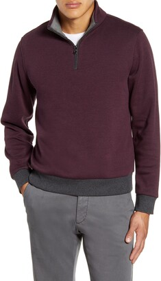 Zachary Prell Braemore Fleece Lined Quarter Zip Pullover