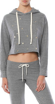 Monrow Oversized Cropped Hoodie with Stardust