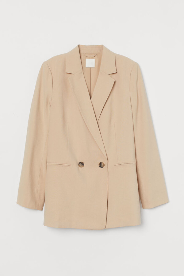Thumbnail for your product : H&M Double-breasted Jacket - Beige