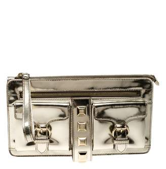 Gucci Silver Patent leather Clutch bags