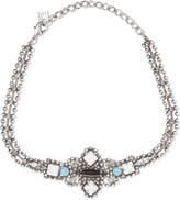 Dannijo Glorenza oxidized silver-plated Swarovski crystal choker