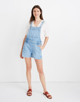 Madewell Adirondack Short Overalls in Phillips Wash