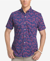 Izod Men's Lobster-Print Cotton Shirt