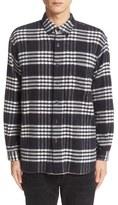 TOMORROWLAND Men's Plaid Brushed Cotton Shirt