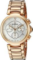 Edox Women's 10220 37RM Air LaPassion Analog Display Swiss Quartz Rose Gold Watch