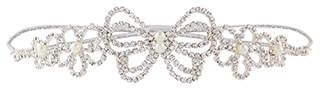 Monsoon Mixed Diamante Butterfly & Flower Headband