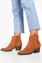 boohoo Wide Fit Western Boots