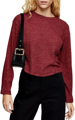 Topshop Split Back Cut & Sew Sweater