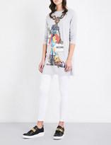Moschino Rat-print cotton-jersey dress