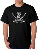 """Men's Word Art """"Pirate Pics"""" T-Shirt in Black"""
