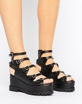 Asos TAXI Gladiator Chunky Wedges