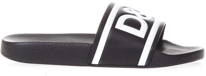 Dolce & Gabbana Rubber Sandals With Logo
