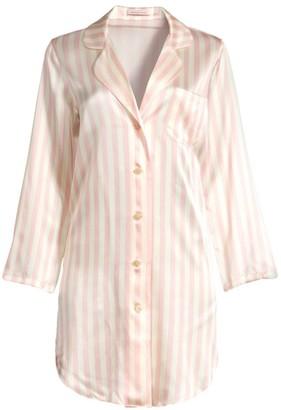Morgan Lane Jillian Silk Striped Nightshirt