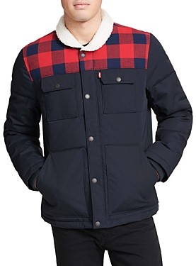 Levi's Artic Cloth Quilted Woodsman Trucker Jacket with Sherpa Collar
