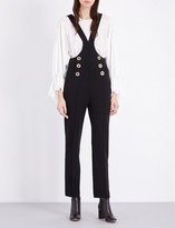Chloé Buttoned wool dungarees