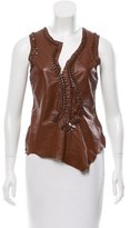 Jean Paul Gaultier Sleeveless Leather Top