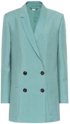 Fendi Double-breasted mohair-blend blazer