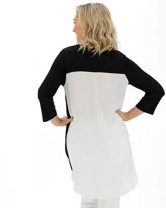 Jdw Black and White Woven Back Tunic