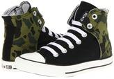 Converse Chuck Taylor All Star Easy Slip-On Hi (Little Kid/Big Kid) (Black/Olive Branch) - Footwear