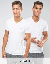 Diesel Two Pack T-Shirt With V Neck In Slim Fit
