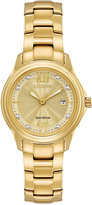 Citizen Women's Silhouette Gold-Tone Stainless Steel Bracelet Watch 30mm FE1132-84P, A Macy's Exclusive Style