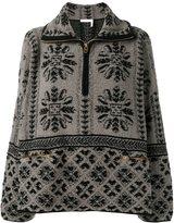 Chloé jacquard zip jumper - women - Cashmere/Wool - XS