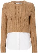 Veronica Beard Carli Combo Sweater