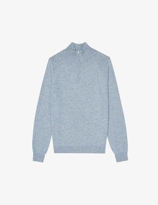 Reiss Joseph half-zip funnel-neck wool-blend jumper